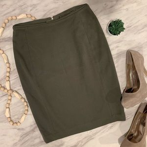 H&M Olive Green Pencil Skirt